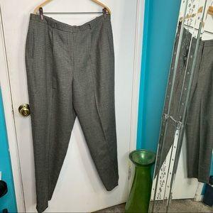 Lauren Ralph Lauren houndstooth vintage wool pants